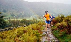 Scott Jurek running in the Lake District last week