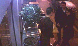 A CCTV picture issued by L'Autre Pied of the couple who are left without paying