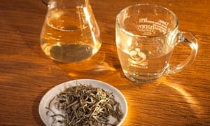 Silver needle tea at a Teavana store in New York