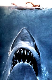 The original poster for Jaws (1975).