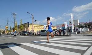 A runner at the Kyushu ekiden.