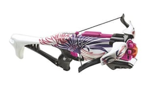 Gritty in pink … the Nerf Rebelle Guardian CrossBow.