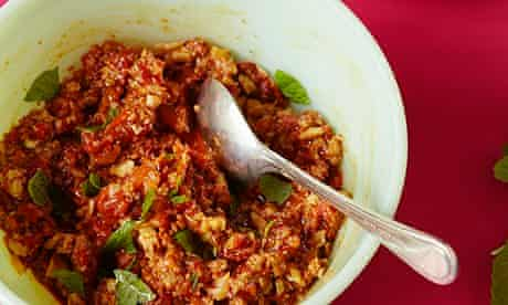 10 best middle east Muhammara with flatbread triangles