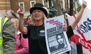 EDL Angels demonstration in London