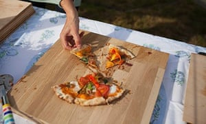 Get togethers: pizza  with foraged bits
