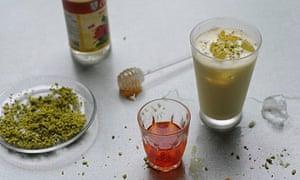 Drinks: pistachio lassi