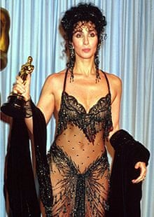 Cher with her Oscar in 1988