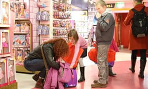 Collecting their favourite toys in Hamleys