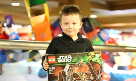 James with his Star Wars Lego