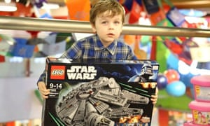 Henry with his Star Wars Lego set