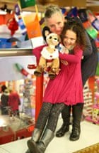 Zarah and her Rudolph Build-a-Bear