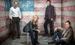 Homeland: Saul Berenson, Carrie Mathison, Peter Quinn and Nick Brody