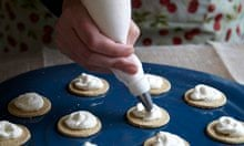 Recipe swap: pipe cream on to biscuits