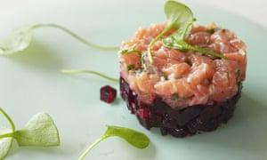 Salmon and beetroot tartare