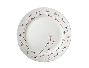 Simple things gallery: Birdy walk dinner plate