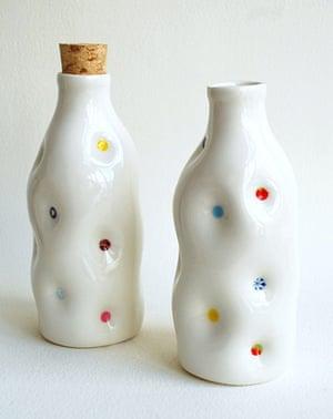 Simple things gallery: Porcelain milk bottles