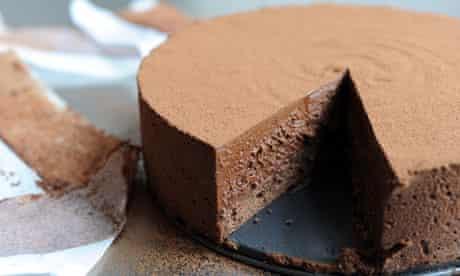 chocoalte custard mousse cake