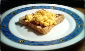 Trevor Baker's scrambled egg