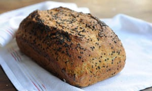 Carrot and sesame sandwich bread