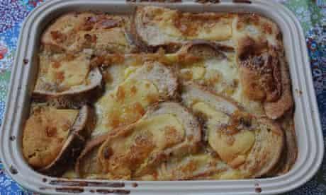 finished baked simnel pudding