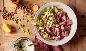 Pistachio and ham salad