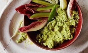 Lemon cashew parsley dip