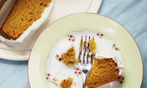 butternut squash spice cake with coconut icing