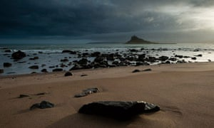 St Michael's Mount viewed from Marazion beach, Cornwall
