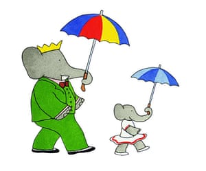 Babar the Elephant: Babar and umbrellas