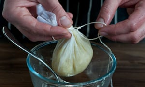 Scrape out the pith with a spoon