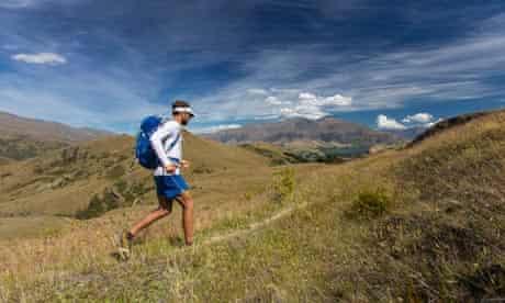 Jez Bragg runs above Arrowtown on the Te Araroa trail
