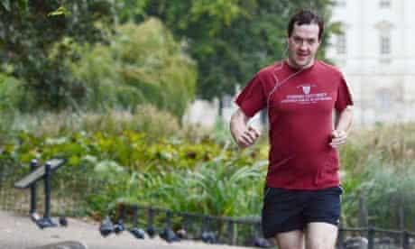 George Osborne jogging