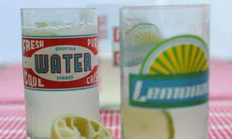 Two glasses of lime rickey