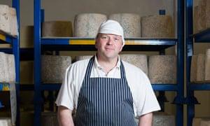 Lancashire cheesemaker Graham Kirkham
