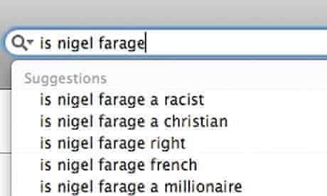 Google search: Is Nigel Farage …