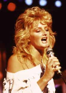 Bonnie Tyler in the 1980s