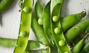 Fresh peas in their pods