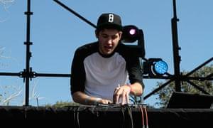 Baauer performs at the Fun Fun Fun Festival, Austin Texas.