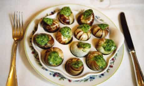Escargots in a Paris restaurant