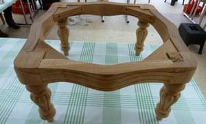 Unpainted stool frame