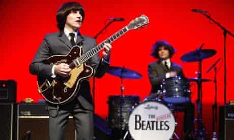 Andre Barreau as George Harrison in the Bootleg Beatles
