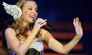 Kylie Minogue performs in Cardiff