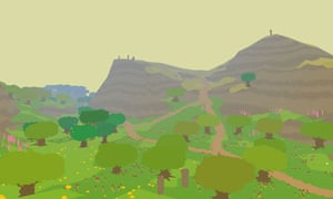 A still from the computer game Proteus