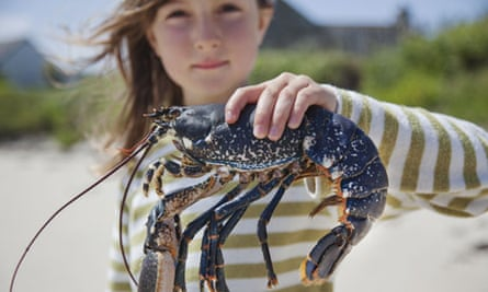 Get togethers girl with lobster