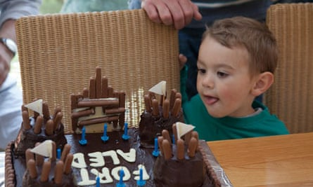 Get togethers: Joseph eyes up the fort cake