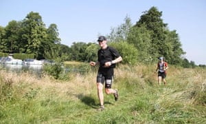 Nick Van Mead enjoying a fast flat stretch of Race to the Stones along the Thames