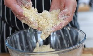 Dan's strawberry mascarpone custard crumble: step 3: make the crumble