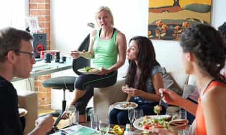 The Veggie Runners: Jayne Rodgers and her daughter Bibi Rodgers have brunch with friends at Jayne's
