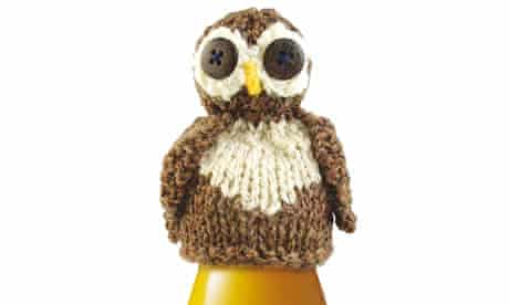 Close up of the owl knit for Big Knit