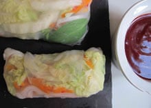 Gourmet's summer rolls.